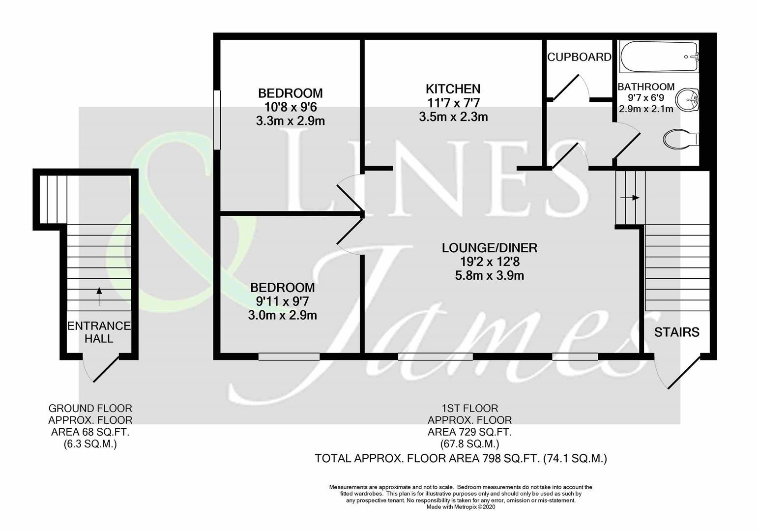 Floorplan for Oak Tree Way, Horsham